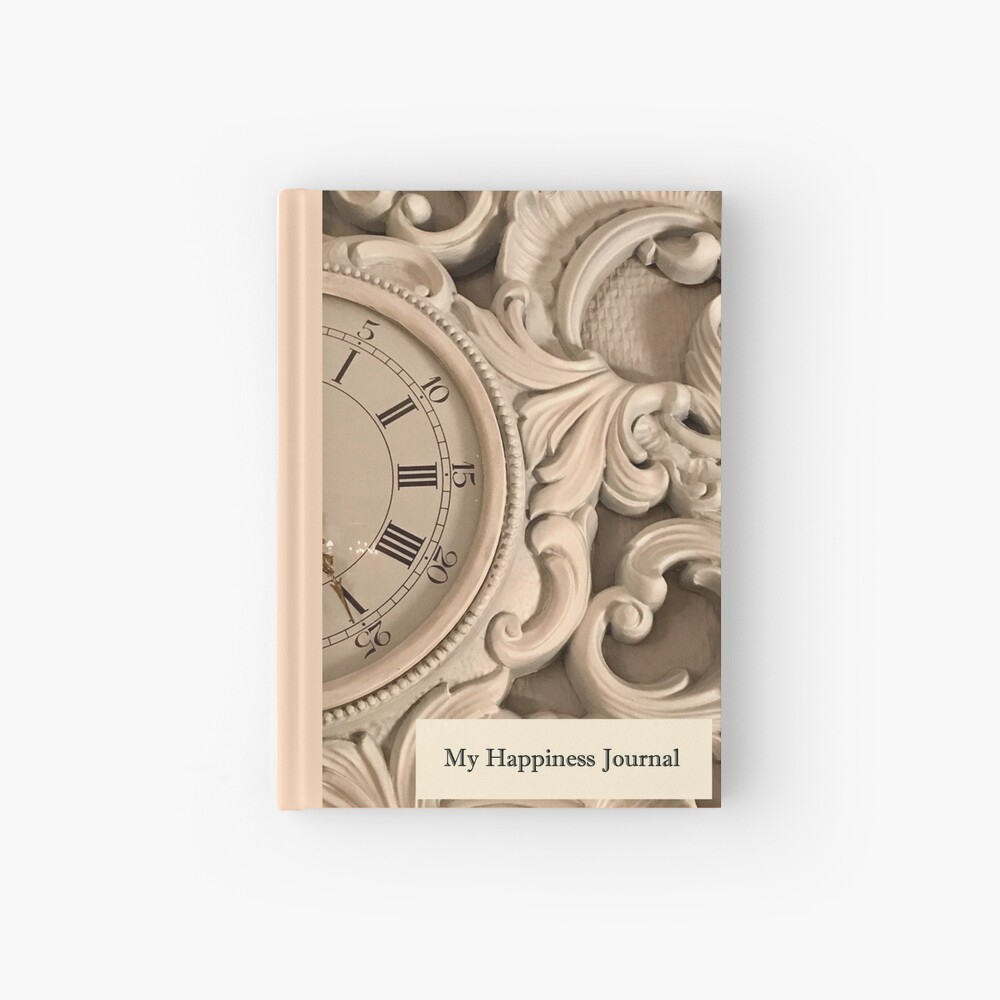 Happiness Journal With a Clock Hardcover Journal