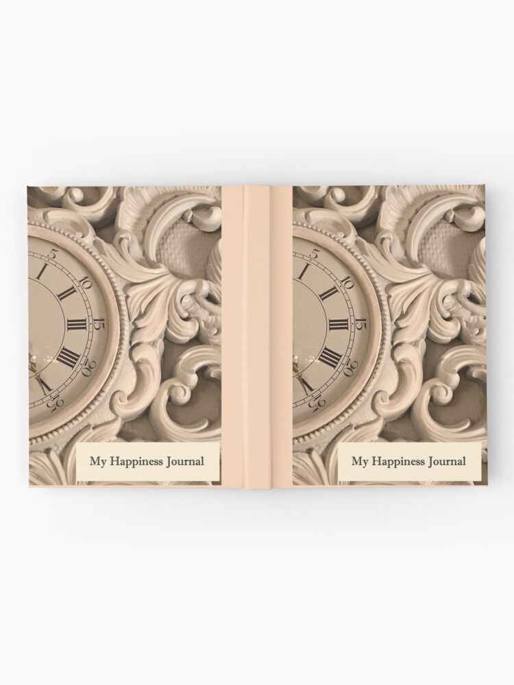 Alternate view of Happiness Journal With a Clock Hardcover Journal