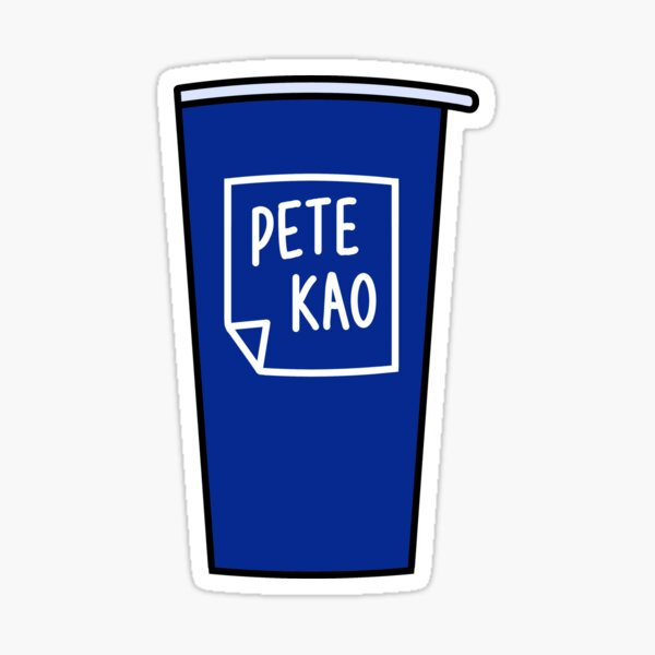 Beso azul oscuro - Copa PeteKao Pegatina