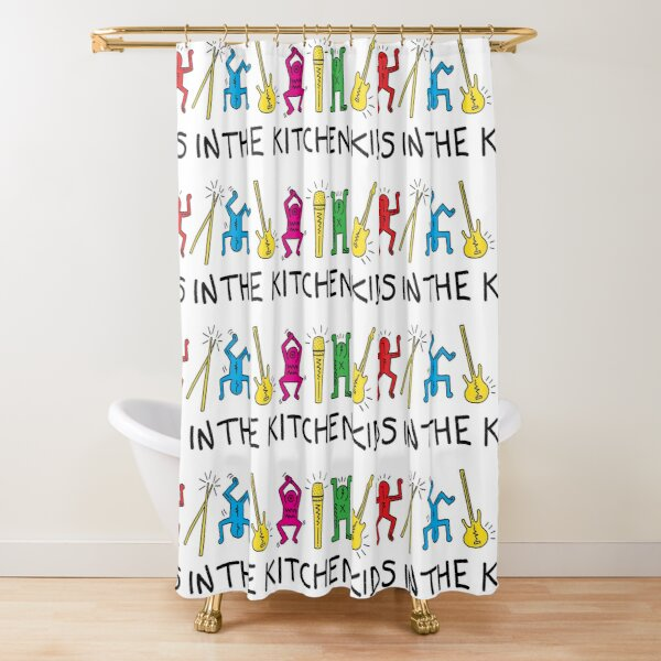 Kids In The Kitchen - Pop Art Shower Curtain