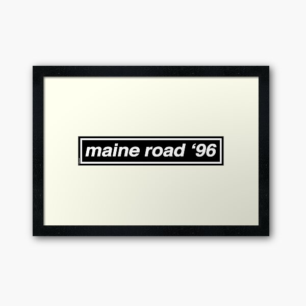 Maine Road '96 - OASIS Band Tribute - MADE IN THE 90s Framed Art Print