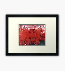 Supermarket red Framed Print