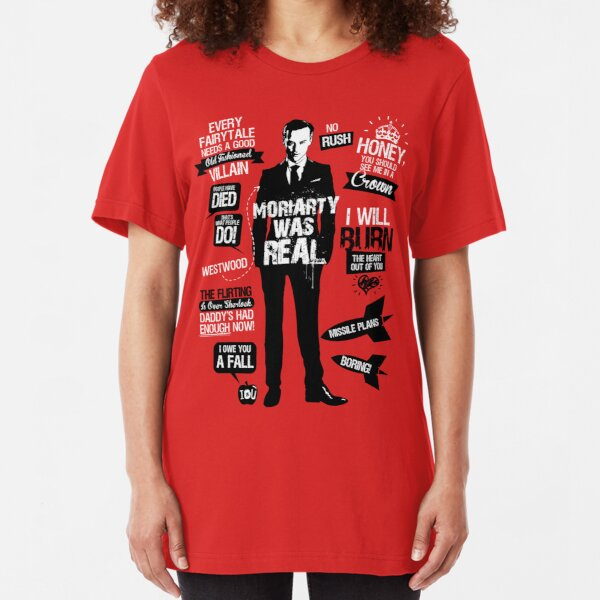 Good Old Fashioned Villain Quotes Slim Fit T-Shirt