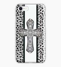 Animal Print Rhinestone Crusted Cross IPhone or I Pod Case iPhone Case/Skin