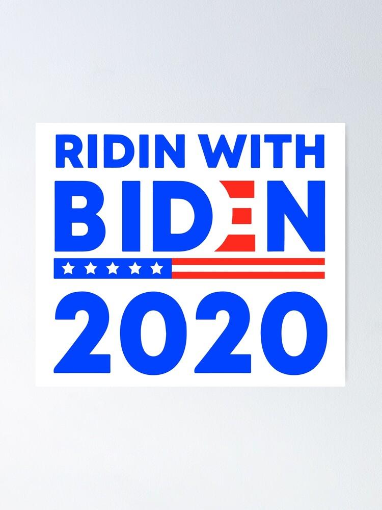 """Joe Biden 2020 /""""I/'m Ridin With Biden/"""" sticker"""