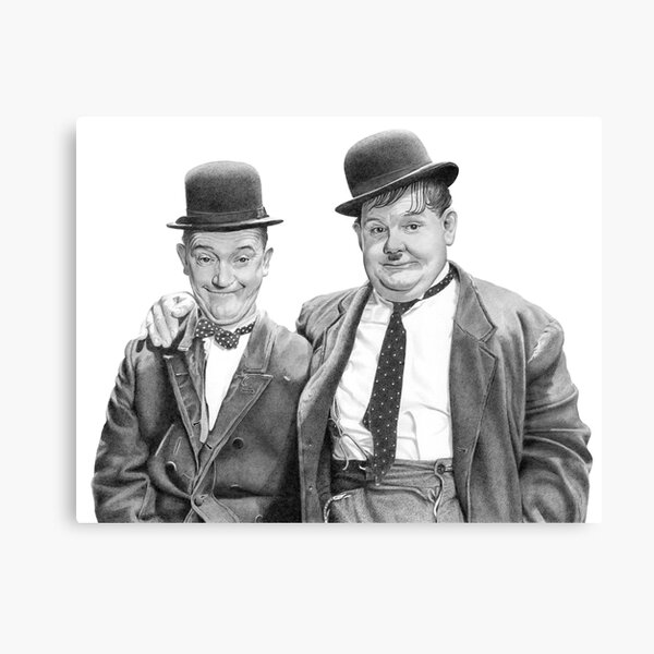 Laurel and Hardy. Canvas Print