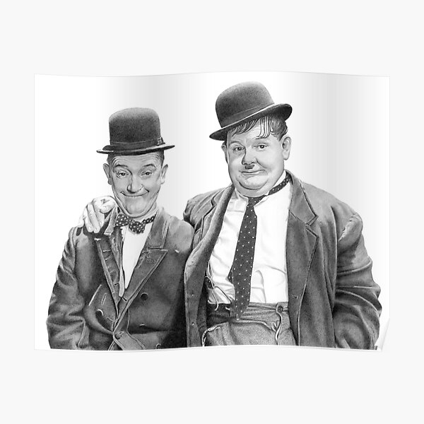 Laurel and Hardy. Poster