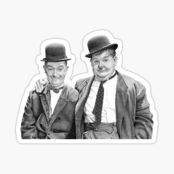 Laurel and Hardy. Sticker