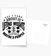 Bodybuilding Lifting Weights Gym Postcards