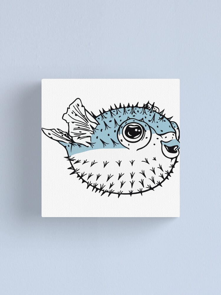 Fugu Cute Deadly Porcupinefish Pufferfish Puffer Fish Canvas Print By The1tee Redbubble