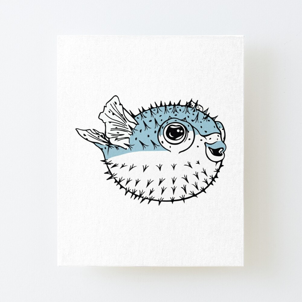 Fugu Cute Deadly Porcupinefish Pufferfish Puffer Fish Art Board Print By The1tee Redbubble