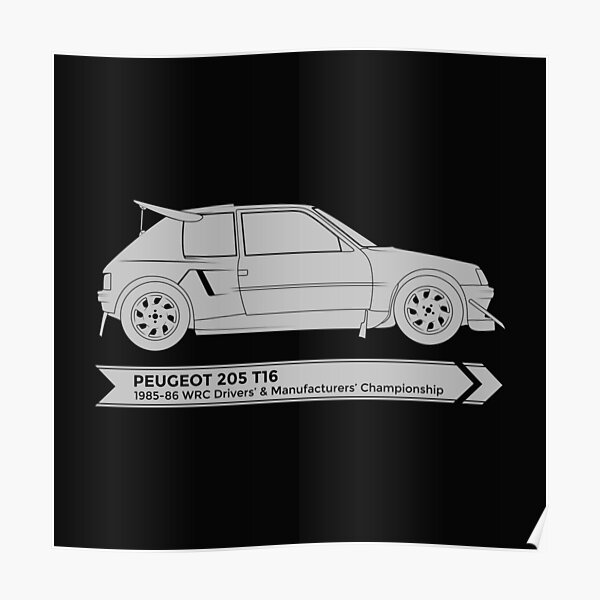 Rally Legends - Peugeot 205 T16 Poster