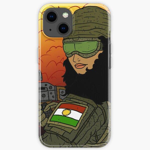 kurdish girl. female YPG soldier. kurdistan. iPhone Soft Case