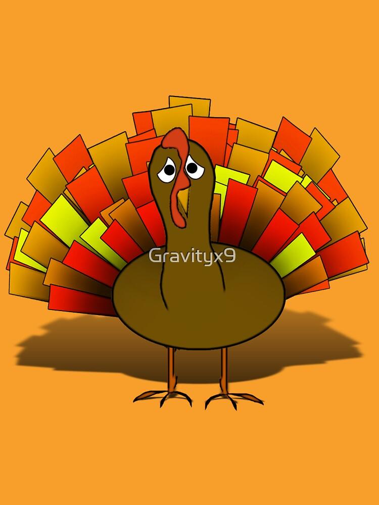 Worried  Thanksgiving Turkey by Gravityx9