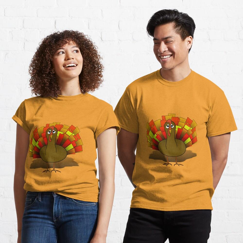 Worried  Thanksgiving Turkey Classic T-Shirt