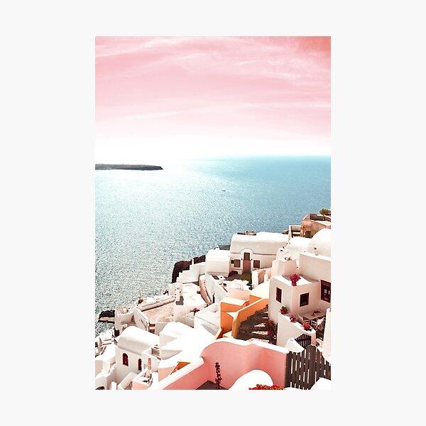 Santorini island, Oia, Tavel Greece Photographic Print