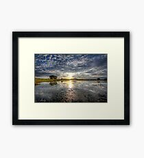 Sun Sneak Framed Print