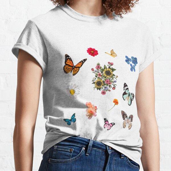 flowers and butterflies sticker pack  Classic T-Shirt