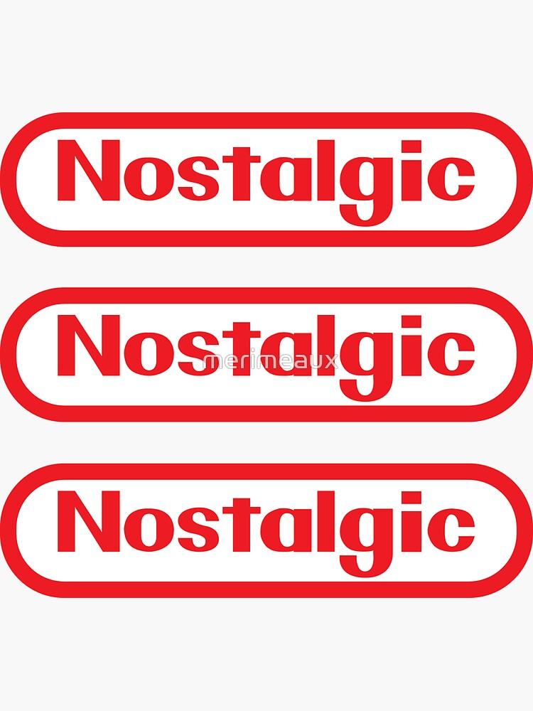 Sticker Pack! NES Collection : Nostalgic Logo by merimeaux