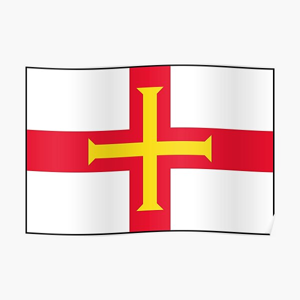 Guernsey Flag Gifts, Stickers and other Products Poster