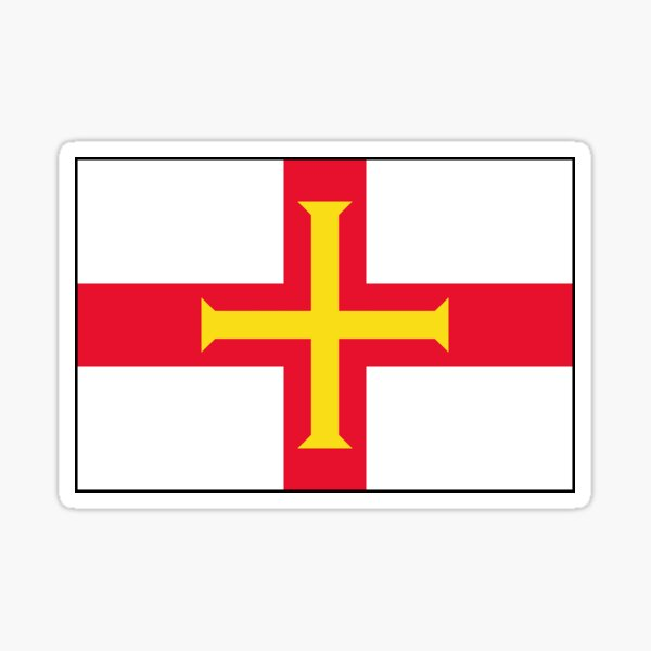 Guernsey Flag Gifts, Stickers and other Products Sticker