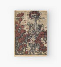 Skeleton art, skeleton with roses book art,human anatomy Hardcover Journal