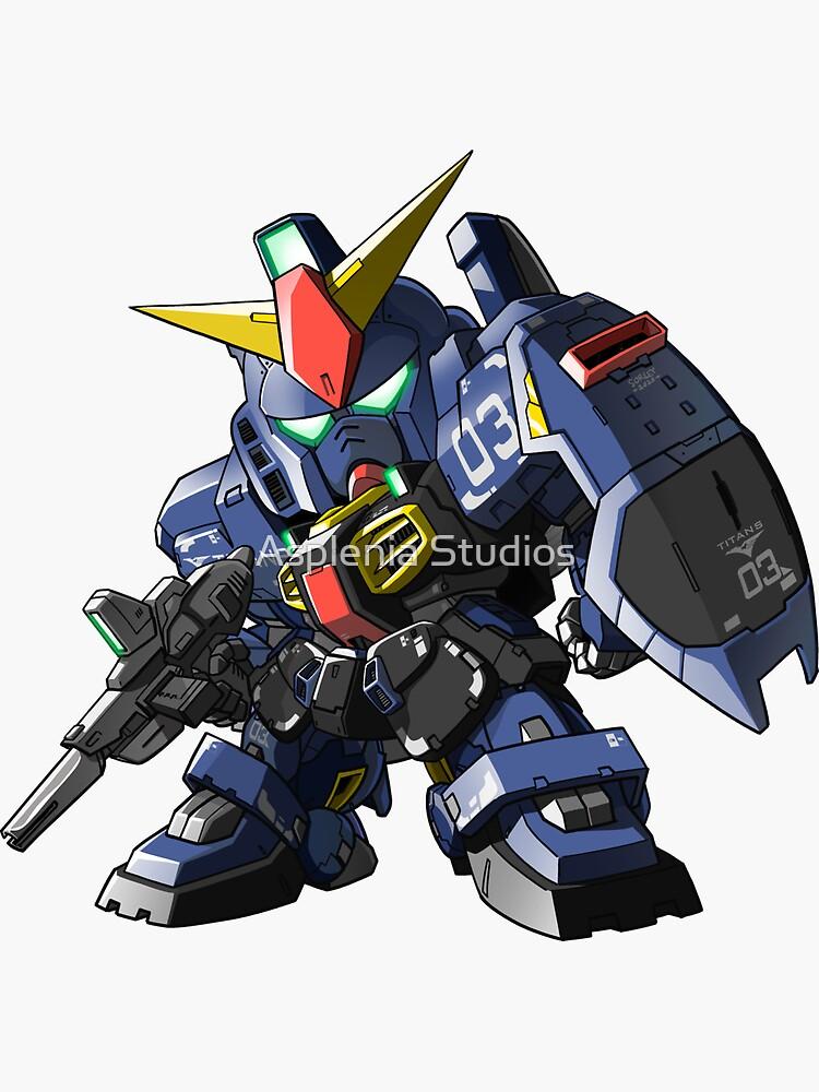 SD Gundam Mk II - Titans colors (Unit 03) by aspleniastudioz