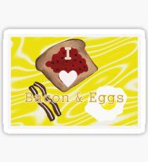 I Love Bacon And Eggs Sticker