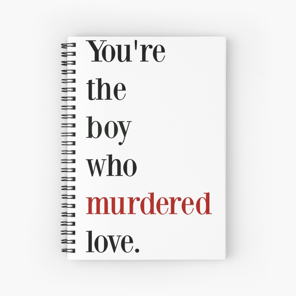 The boy who murdered love -red/black Spiral Notebook