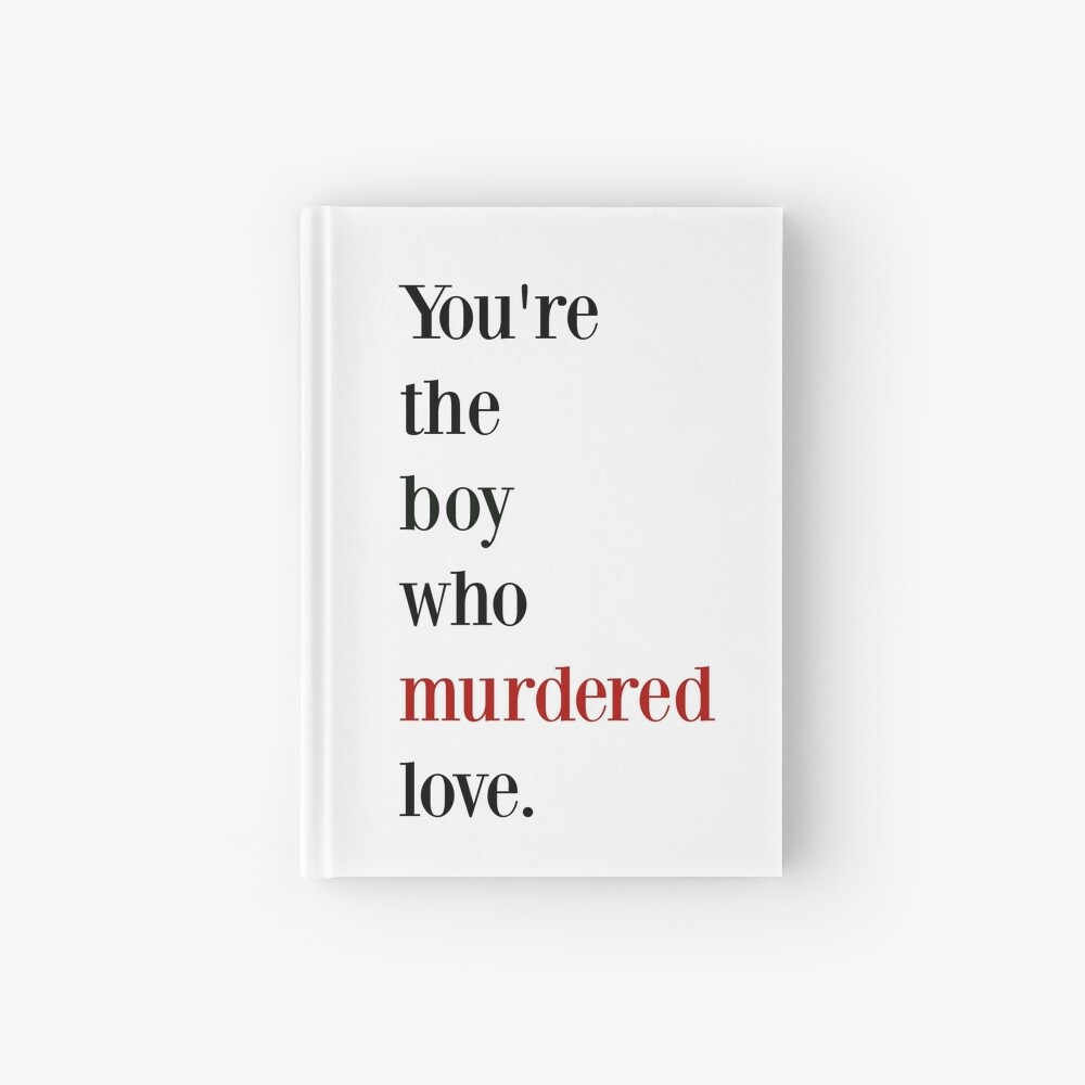 The boy who murdered love -red/black Hardcover Journal