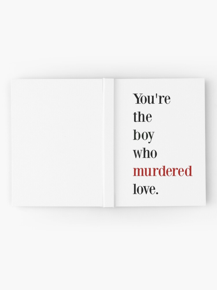 Alternate view of The boy who murdered love -red/black Hardcover Journal