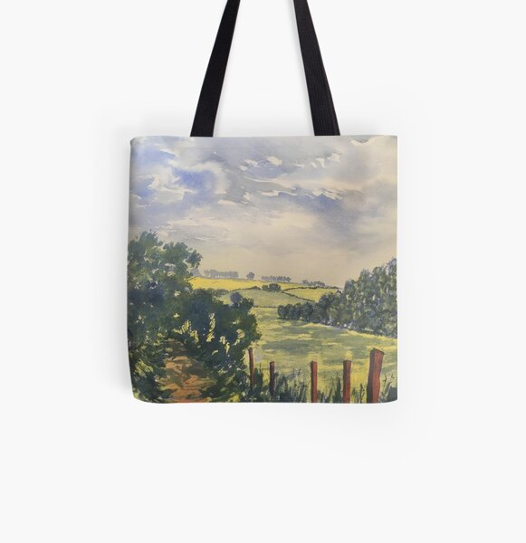 Green Road off Fordon Road All Over Print Tote Bag