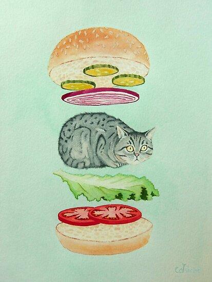 Catsup - Katze Burger Freude! von catshrine