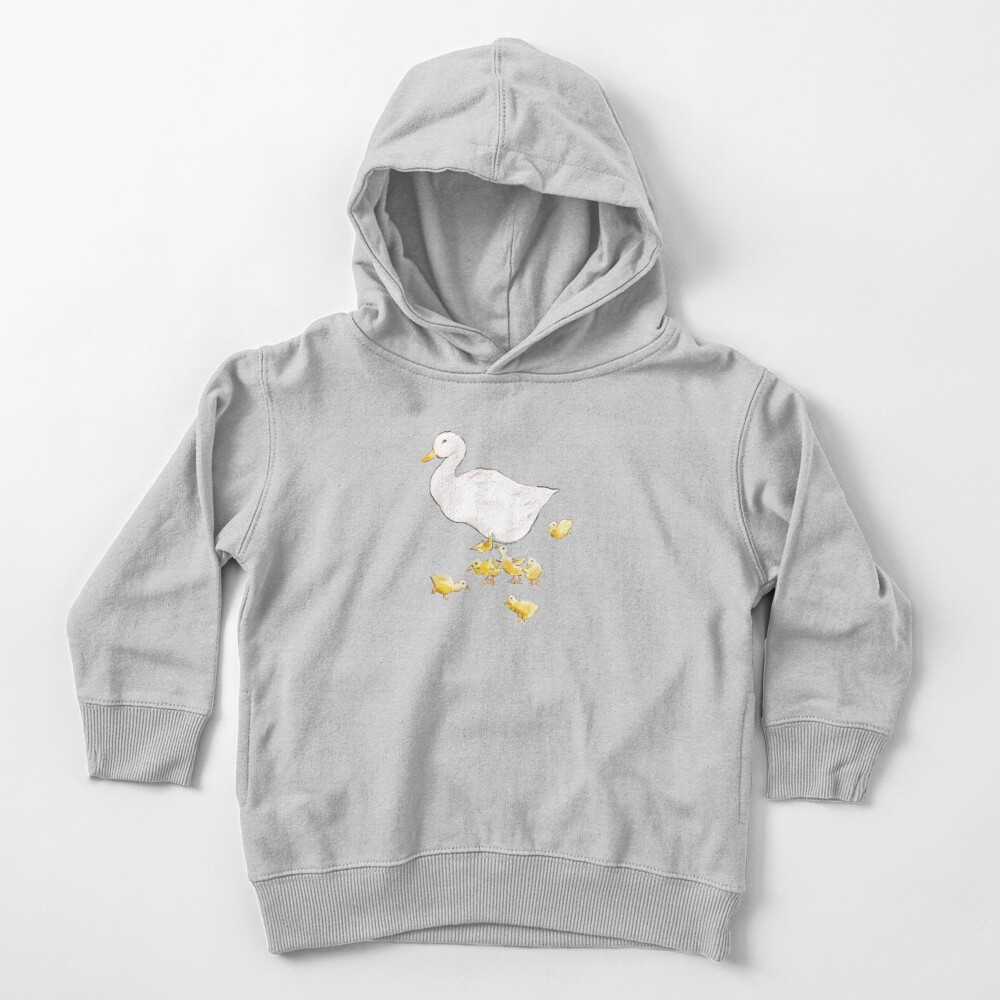 Jemina Duck with ducklings  Rabbit  Beatrix Potter Toddler Pullover Hoodie