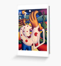 Polka whistle player Greeting Card
