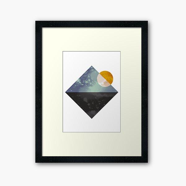 Sea and sun geometric Framed Art Print