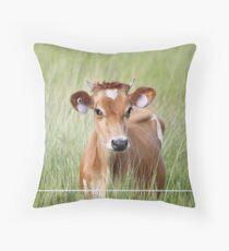 Cute Cow! Throw Pillow