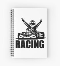 Kart Racing Spiral Notebook