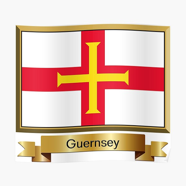 Guernsey Flag Gifts, Stickers and Products - Named Poster