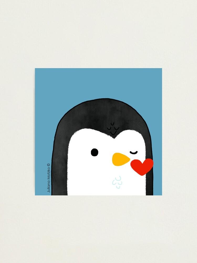 Alternate view of Penguin Kiss Emoji Photographic Print