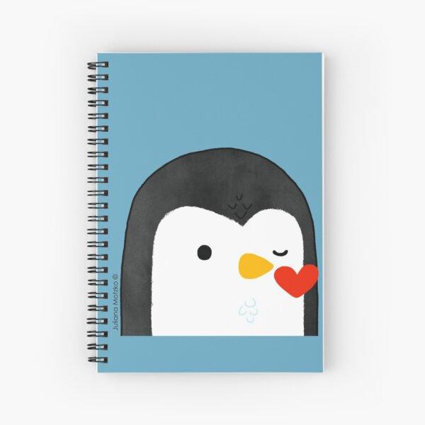 Penguin Kiss Emoji Spiral Notebook
