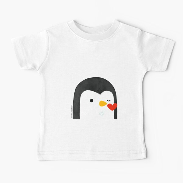 Penguin Kiss Emoji Baby T-Shirt