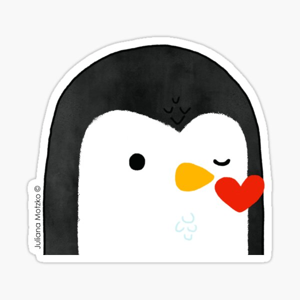 Penguin Kiss Emoji Sticker