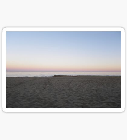 Winter Sunset By The Sea  Sticker