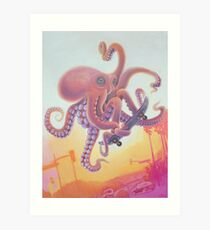 The Octopus Skater Art Print