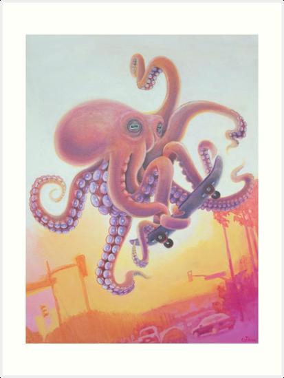 The Octopus Skater by catshrine