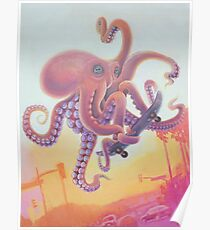 The Octopus Skater Poster