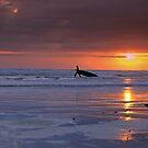 Sunset Surf by Alicja Ludwikowska
