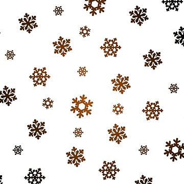 Snowflakes (Bronze and Black on White) by pauljamesfarr