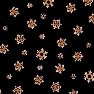 Snowflakes (Orange on Black) by pauljamesfarr